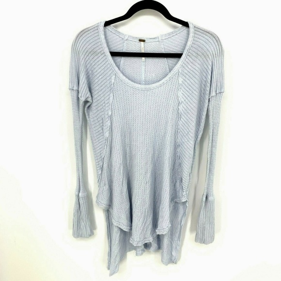 Free People Tops - Free People Waffle Knit Thermal Hi Low Tunic Top